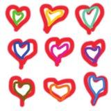 Векторы сердец на день матерей, день валентинок Стоковое Изображение RF