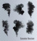 Векторы дыма на прозрачной предпосылке Стоковое фото RF