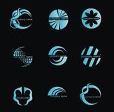 вектор абстрактного логоса принципиальной схемы дела установленный Стоковое фото RF