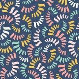 вектор абстрактной картины безшовный Красочные спирали или потоки Стоковое Фото