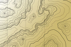 вектор абстрактной карты топографический Стоковое Изображение