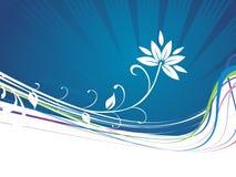 вектор абстрактной предпосылки флористический Стоковые Изображения