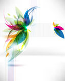 вектор абстрактных листьев предпосылки multicolor Стоковое Фото