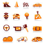 вектор автомобильной иконы автомобиля установленный Стоковое фото RF