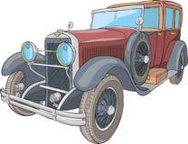 вектор автомобиль ретро стоковое фото