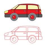 Вектор автомобиля расцветки для ребенк Стоковые Фотографии RF