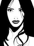 вектор азиатской девушки шикарный Стоковые Изображения
