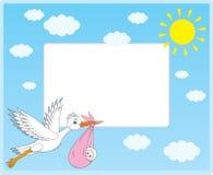 вектор аиста граници newborn Иллюстрация вектора