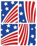 вектор американского флага установленный Стоковая Фотография