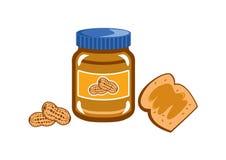 Вектор арахисового масла стоковая фотография