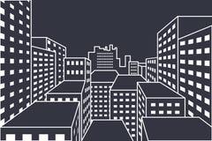 вектор архива eps городского пейзажа включенный Стоковое Изображение