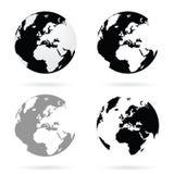 Вектор атласа земли планеты установленный иллюстрация вектора