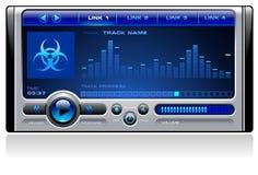 вектор аудиоплейера mp3 средств Стоковые Изображения RF