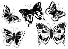 вектор бабочек Стоковое Изображение RF