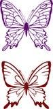 вектор бабочки Стоковые Изображения RF
