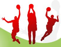 вектор баскетболистов Бесплатная Иллюстрация