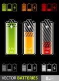 вектор батарей иллюстрация штока