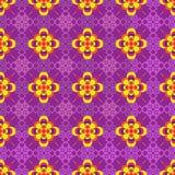 Вектор безшовный мульти-collor цветет предпосылка Стоковая Фотография RF