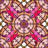 вектор безшовный сбор винограда текстуры Картина в пинке иллюстрация штока
