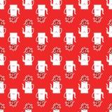 Вектор безшовный с чайниками бесплатная иллюстрация