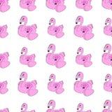 Вектор безшовный фламинго на белой предпосылке бесплатная иллюстрация