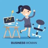 Вектор бизнес-леди Стоковые Изображения