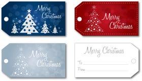 Вектор бирки подарка рождества установленный бесплатная иллюстрация