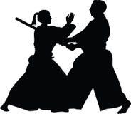 Вектор боевых искусств айкидо Иллюстрация штока