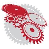 вектор больших cogwheels различный Стоковые Фото