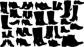 Вектор ботинок женщин способа Стоковая Фотография RF