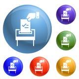 Вектор бумажных значков избрания установленный бесплатная иллюстрация