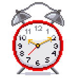 Вектор будильника пиксела ретро Стоковое Фото