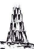 вектор вавилонской башни Стоковые Изображения RF