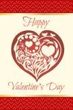 вектор Валентайн иллюстрации s сердца зеленого цвета dreamstime конструкции дня карточки стилизованный красивейший флористический Стоковые Изображения RF