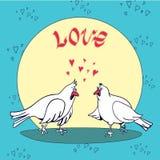 вектор Валентайн иллюстрации s сердца зеленого цвета dreamstime конструкции дня карточки стилизованный Влюбленность и голуби иллюстрация штока