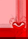 вектор Валентайн приветствию s дня карточки Стоковые Изображения RF