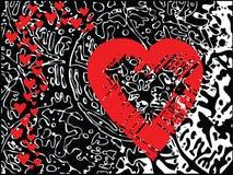 вектор Валентайн сердец Стоковые Изображения RF