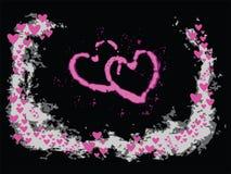вектор Валентайн сердец Стоковая Фотография