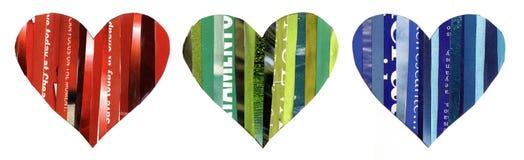 вектор Валентайн сердец s дня установленный стоковое фото rf