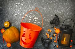 вектор вампира знахарки мрачного жнеца иллюстрации halloween установленный Стоковое Изображение