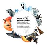 вектор вампира знахарки мрачного жнеца иллюстрации halloween установленный Стоковые Фотографии RF