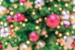 вектор вала иллюстрации рождества предпосылки красивейший Света Bokeh defocused Стоковые Изображения