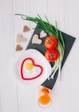 вектор Валентайн иллюстрации дня пар любящий завтрак романтичный Стоковая Фотография RF