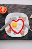 вектор Валентайн иллюстрации дня пар любящий завтрак романтичный Стоковые Фото