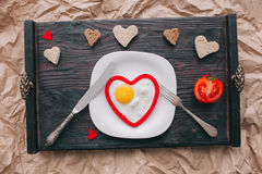 вектор Валентайн иллюстрации дня пар любящий завтрак романтичный Стоковое фото RF