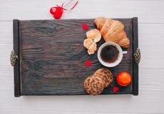 вектор Валентайн иллюстрации дня пар любящий завтрак романтичный Стоковые Фотографии RF
