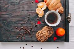 вектор Валентайн иллюстрации дня пар любящий завтрак романтичный Стоковые Изображения RF
