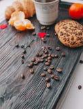 вектор Валентайн иллюстрации дня пар любящий завтрак романтичный Стоковая Фотография