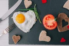 вектор Валентайн иллюстрации дня пар любящий романтичное breakfastfried яичко Стоковое фото RF