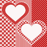 вектор Валентайн иллюстрации 2 сердец карточки Стоковое Фото